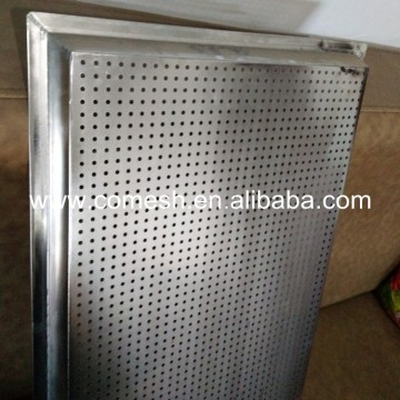 Perforated Aluminum Alloy Curved Edge Baking Tray