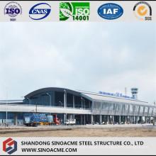 Hangar de estructura de acero con techo de arco