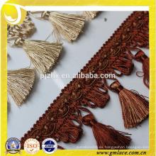 Guarnición de cuentas de color rojo indio para cortina y cubierta de cojín