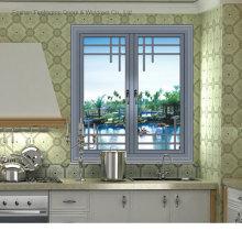 Fenêtres en aluminium résidentielles de couleur grise (FT-W80)