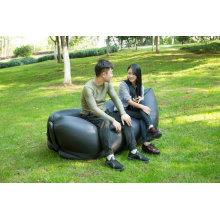 Saco preguiçoso do sofá inflável de nylon de 100% Ripstop com luz do diodo emissor de luz