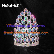 8inch Wholesale AB Clear Diamond Crowns