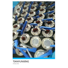 304L / 316L Lever Welding Stainless Steel Sanitaire Butterfly Valve