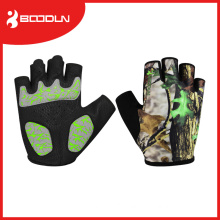 Microfiber with Silicon Print Cycling Gloves for Sales