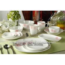 simple unique morden design porcelain ceramic dinnerware set