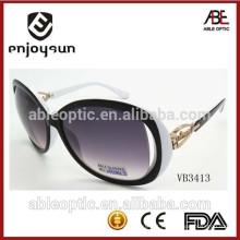 2015 óculos de sol de moda senhora com design de padrão de dobradiça de metal único atacado Alibaba