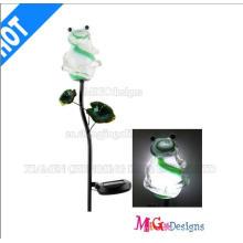 Customed Metall und Glas Solar Frog Lights Pfahl