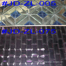Square Crystal Glass Faces Mirror Mosaic Tile for Wall