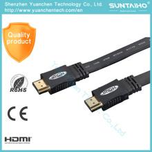 Cable de HDMI de soporte de alta velocidad plano 1.4V