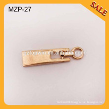 MZP27 Custom made cheap gold metal zip pullers for bags