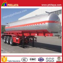 Semi-reboque do petroleiro do combustível 3axles para o transporte líquido