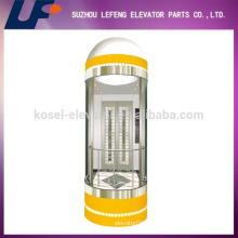 Cápsula de elevación con cabina de vidrio