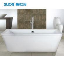 China bañera cuadrada acrílica clásica independiente