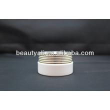 Envase de crema cosmética de acrílico de forma de obturador de lujo