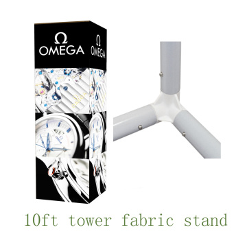 10ft Fabrice Tower Pameran LED Frame Stand