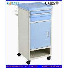 Hospital Furniture ABS Bedside Cabinet with Shoes Shelf