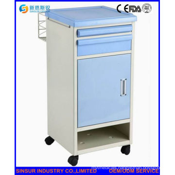 Stainless Steel Hospital Bedside Cabinet with Shoes Shelf