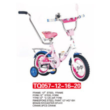 Princess Style of Kids Bicycle with Push Bar 12""