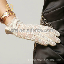 Dress unlined lace leather glove in Lixian