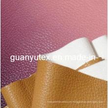Tecido de couro artificial pu para sofá