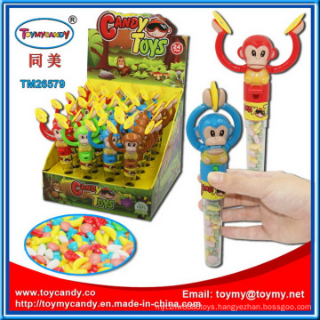 Handle Monkeys Playing Gongs Candy Toys