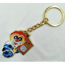 Porte-clés émaillé en carnaval plaqué or