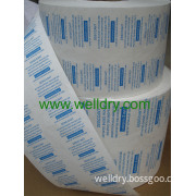 Tyvek Film or Paper Coated Glue With Different Printing for Packaging of Desiccant