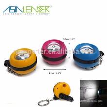 LED Hand-Kurbel Schlüsselanhänger Taschenlampe Dynamo Fackel