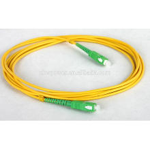 Shenzhen fuente de fábrica SC APC fibra óptica patch cord, SC singlemode fibra cable de parche con precio barato