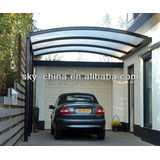 Portable Aluminum Frame Carport with polycarbonate roof