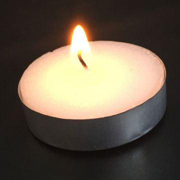Lilin tulen 9G Unscent White Tealight Lilin