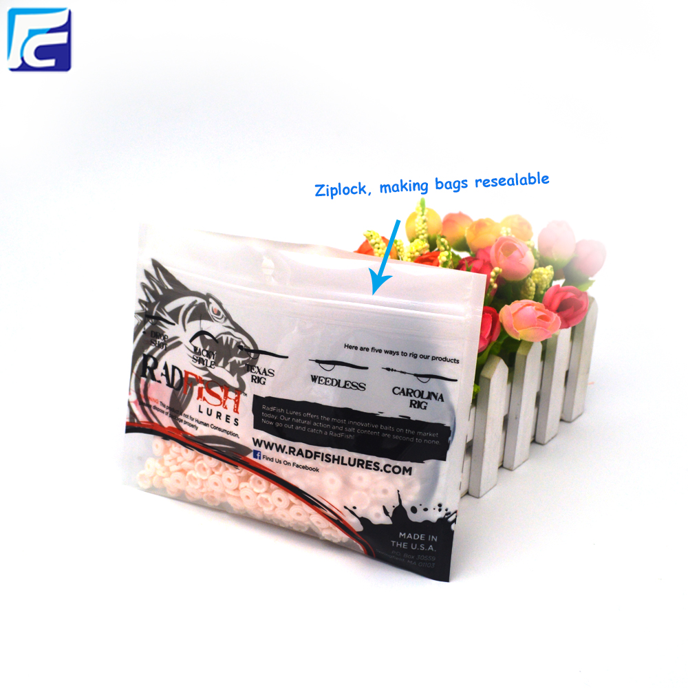 Custom Ziplock Plastic Bag For Fishing Bait Lure