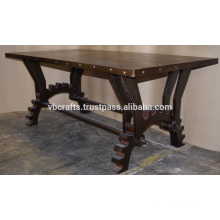 Industrial Metal Dining Table New Design Gear Base