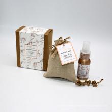 essential oil sleep spray and fabric sachet in Kraft box for home
