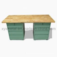 Beech Surface Steel Frame Metal Cabinet Workbench Work Table