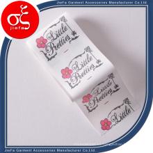 Etiqueta impresa etiqueta no tejida colorida de la marca de encargo