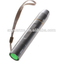Vente en gros lampe de poche rechargeable en acier inoxydable à jade