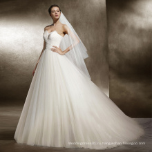 Без бретелек перо свадебное платье для свадьбы