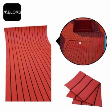Strato del teck di Faux usando nel pavimento della barca