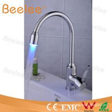 3 colores agua potencia agua ahorro LED cocina grifo Qh114f