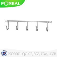 Chromed Metal Wire Five Hooks