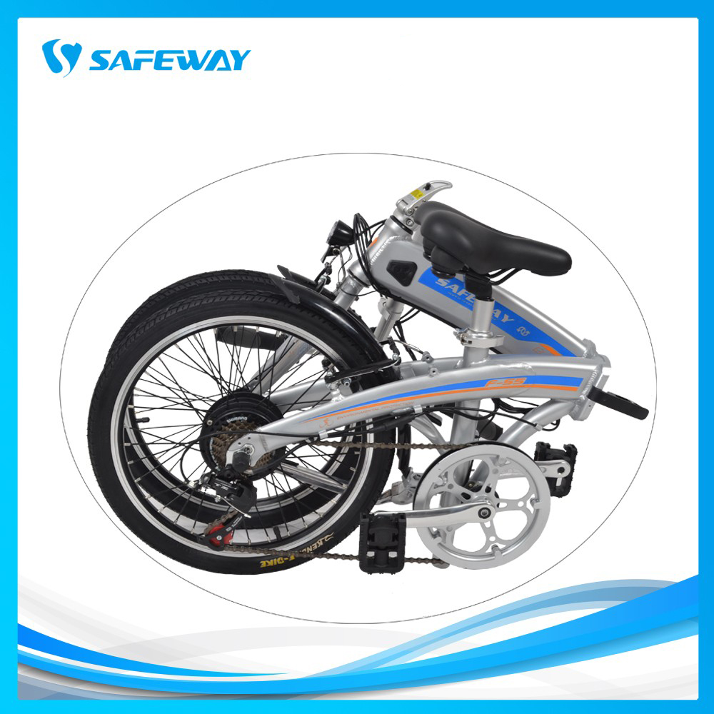Hidden battery folding electric bike