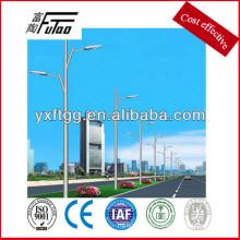 Poste de iluminación de acero galvanizado de acera
