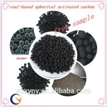 Carvão ativado esférico a base de carvão com baixo preço por tonelada para material de tratamento de água