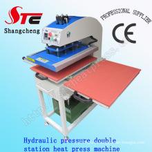 Máquina da transferência térmica do t-shirt da pressão de óleo Máquina da transferência térmica do t-shirt da pressão hidráulica de 40 * 50cm