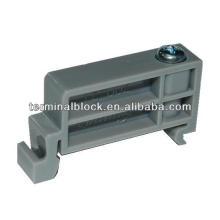 TE-002 Abrazadera de bloque de terminales Abrazadera de extremo de carril Clip de montaje de riel DIN