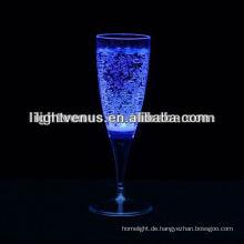 Romantisches flüssiges aktives LED Champange Glas für Partei