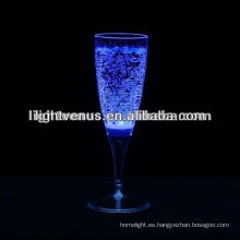 Romantic Liquid active LED Champange Glass para fiesta