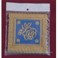 12,5 * 12,5 cm Quadratform Blau Gold PVC Spitze Tischset Billig Fabrik Großhandel