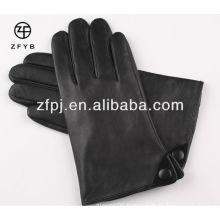 Plain Style and Daily Life Usage men's leather gloves